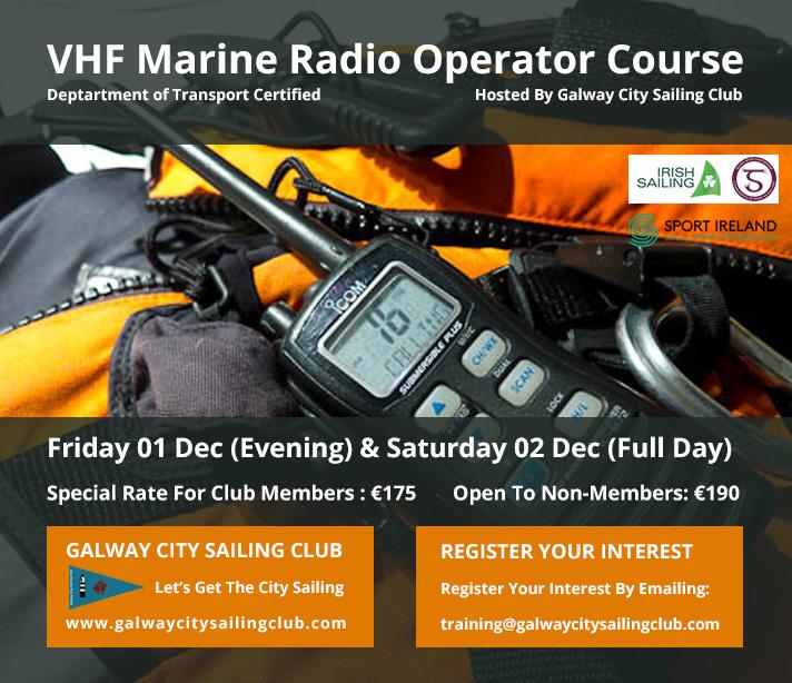 VHF Marine Radio Operator Course Galway City Sailing Club